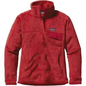 Women's Red Patagonia Fleece Pullover